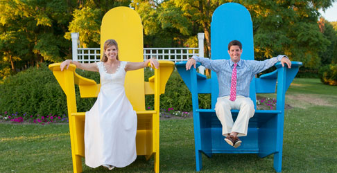Bride & Groom 500x250; Photo Credit Orchard Cove Photography - Basin Harbor Resort - Vergernnes, VT