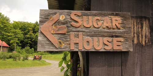 Sugar House Sign Morse Farm Maple Sugarworks East Monteplier Vermont