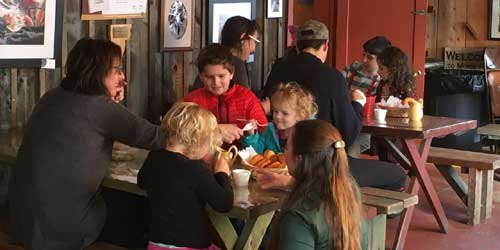 Family Dining Morse Farm Maple Sugarworks East Montpelier Vermont