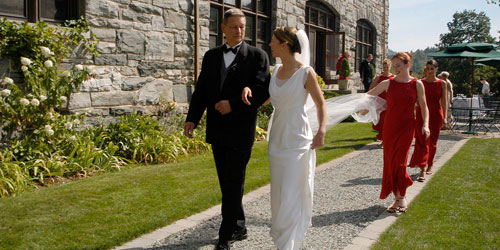Wedding Stroll 500x250 - Castle Hill Resort - Proctorsville, VT