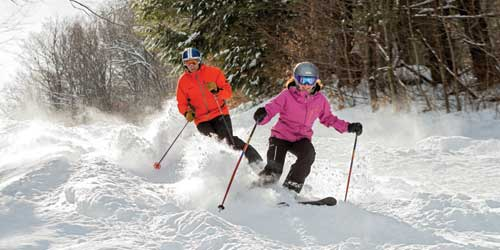 Cuple Skiing Woodstock Inn & Resort Woodstock Vermont