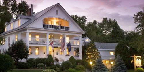 Rabbit Hill Inn Exterior Dusk View 500x250 - Distinctive Inns of New England