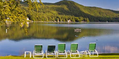 Waterfront Deck - Lake Morey Resort - Fairlee, VT