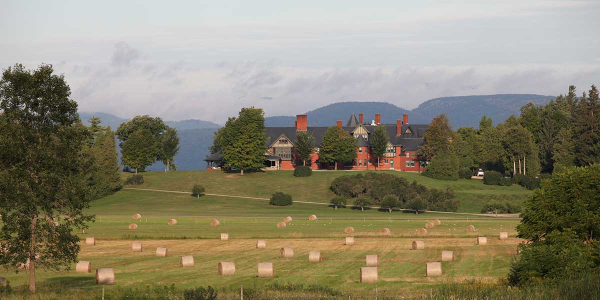 The inn at shelburne farms round bales credit Marshall Webb and Shelburne Farms
