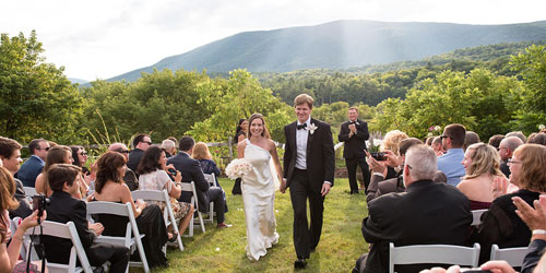 Outdoor Wedding - Hill Farm Inn - Sunderland, VT