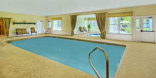 Tan Pool Room - The Pointe Hotel at Castle Hill Resort - Proctorsville, VT