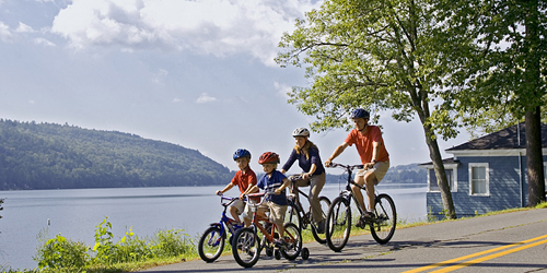 Biking by the Lake - Lake Morey Resort - Fairlee, VT
