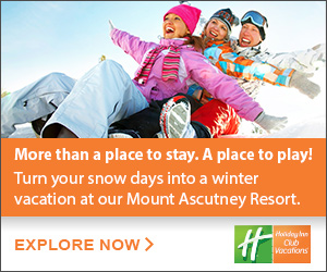 Start your Vermont Winter Here at Mount Ascutney Resort - a Holiday Inn Club Vacation Destination. Click here for more information.