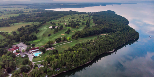 Golf Course Aerial View - Basin Harbor - Vergennes, VT