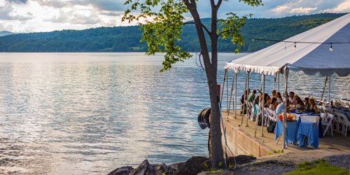 Lakeside Tent Dining - Basin Harbor - Vergennes, VT