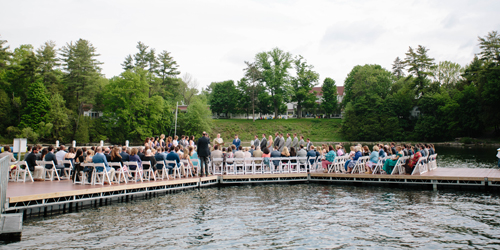 Dock Wedding - Basin Harbor - Vergennes, VT