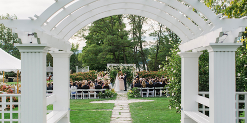 Outdoor Wedding Garden Arch - Basin Harbor - Vergennes, VT