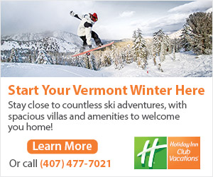 Start your Vermont Winter at Ascutney Mountain Resort - A Holiday Inn Club Vacation! Call 407-477-7021 or click here to learn more.