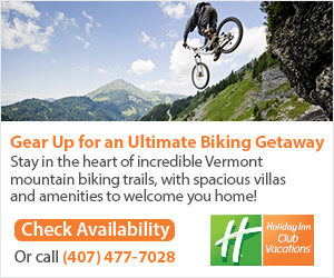 Gear up for the Ultimate Biking Getaway at Ascutney Mountain Resort - A Holiday Inn Club Vacation! Call 407-477-7028 or click here for more details or to check availability.