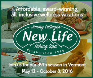 New Life Hiking Spa in Mendon-Killington, VT - Affordable, Award-winning, All-Inclusive Wellness Vacations for 39 seasons! Open May 12 - October 3, 2016