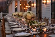 Outdoor Banquet Table & Lights