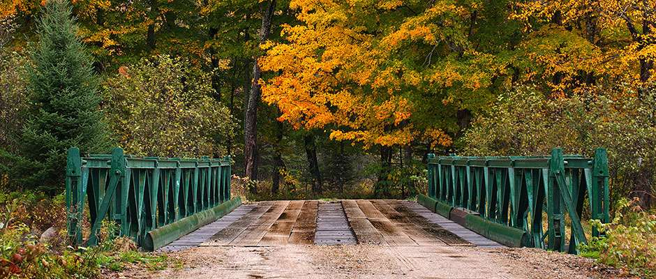Fall with Old Bridge in Vermont